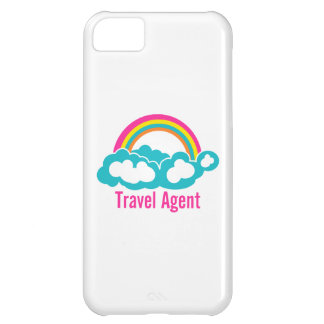 Rainbow Cloud Travel Agent Cover For iPhone 5C
