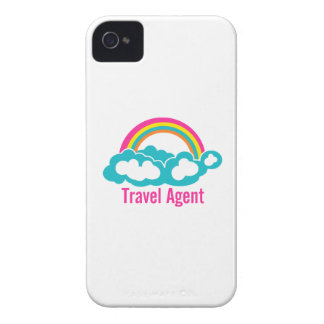 Rainbow Cloud Travel Agent iPhone 4 Cover