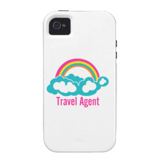 Rainbow Cloud Travel Agent iPhone 4/4S Covers
