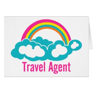 Rainbow Cloud Travel Agent Greeting Card