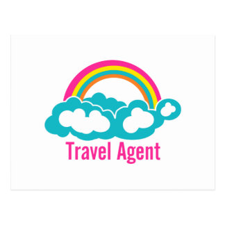 Rainbow Cloud Travel Agent Postcard