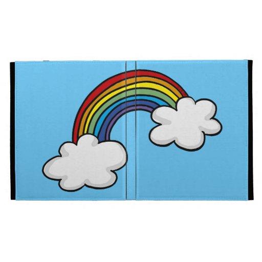 Rainbow & clouds iPad folio cover