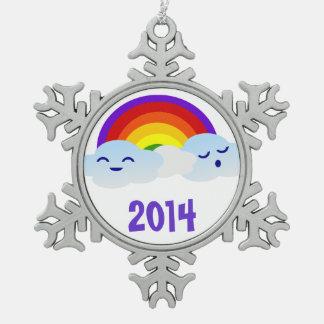 Rainbow Clouds Ornament