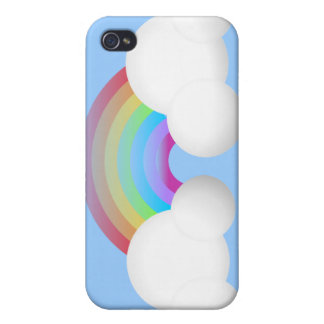 Rainbow & Clouds iPhone 4 Covers