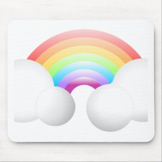 Rainbow & Clouds Mousepad