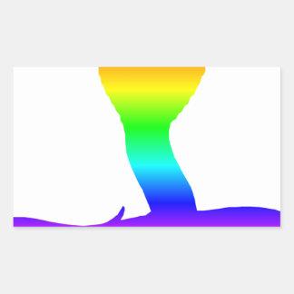 Rainbow Cobra Rectangular Sticker