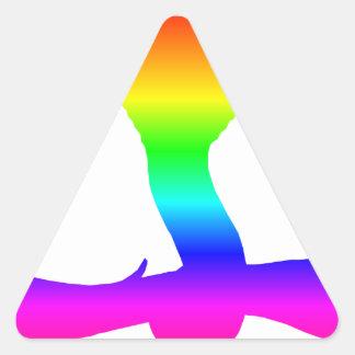 Rainbow Cobra Triangle Sticker