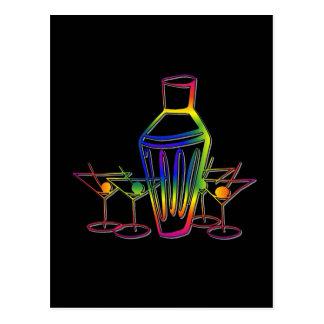 Rainbow Cocktails Postcard