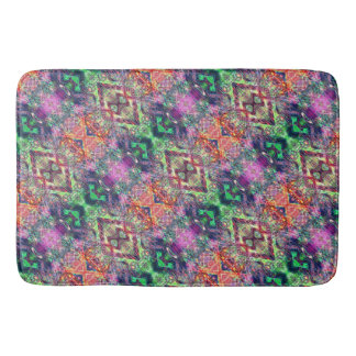 Rainbow Color Abstract Pattern Bath Mat
