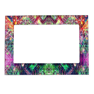 Rainbow Color Abstract Pattern Magnetic Frame