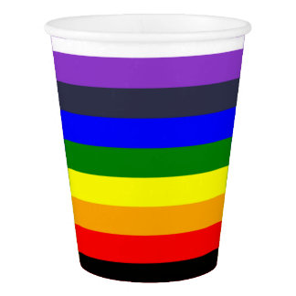 Rainbow Color Design with Extra Colors Paper Cup