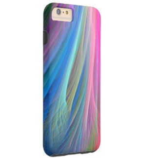 Rainbow Color Feather Design Tough iPhone 6 Plus Case