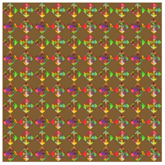 Rainbow Color Flowers. Pattern on Brown. Cut Outs