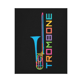 Rainbow Color Trombone Canvas Print