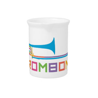 Rainbow Color Trombone Pitcher