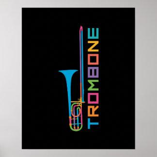 Rainbow Color Trombone Poster