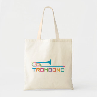 Rainbow Color Trombone Tote Bag