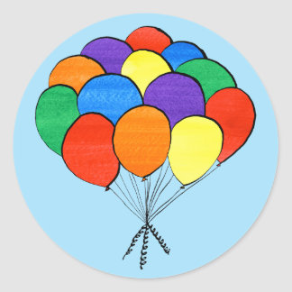 Rainbow Colored Balloons Illustration stickers