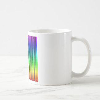 Rainbow colored bar code basic white mug