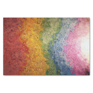 Rainbow Colored Energy Stripes Tissue Paper