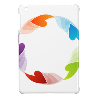 Rainbow colored floral design element case for the iPad mini