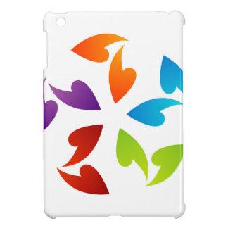 Rainbow colored floral design element iPad mini covers