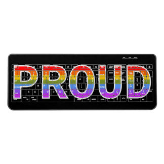 "Rainbow-Colored ""PROUD"" Keyboard"