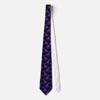 Rainbow Colored Psychedelic Giraffe Tie
