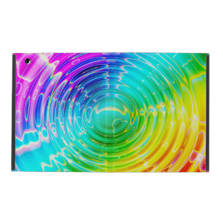 Rainbow Colored Ripple iPad Cover