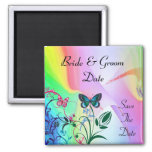 RAINBOW COLORED SAVE THE DATE MAGNET