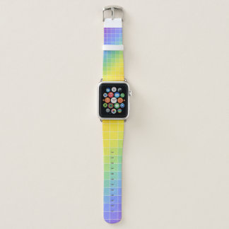 Rainbow Colored Square Pattern Apple Watch Band