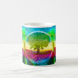 Rainbow Colored Tree of Life Coffee Mug