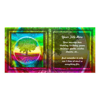 Rainbow Colored Tree of Life Picture Card