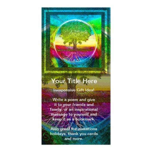 Rainbow Colored Tree of Life Photo Greeting Card