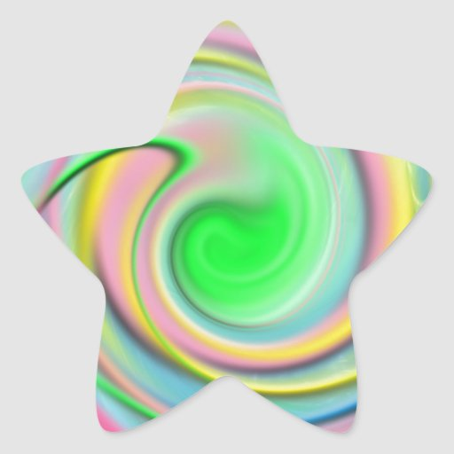 Rainbow- colorful abstract star sticker