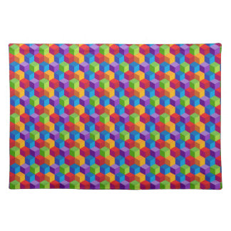 Rainbow Colorful Cube Pattern Placemat