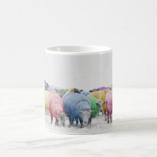 Rainbow Colorful Sheeps Coffee Mug