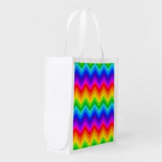 Rainbow Colors #2 Large Chevron ZigZag Pattern