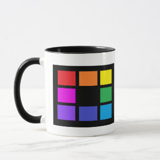 Rainbow Colors Artist Color Grid Artsy Studio Mugs