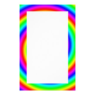 Rainbow Colors. Bright and Colorful Spiral. Custom Stationery