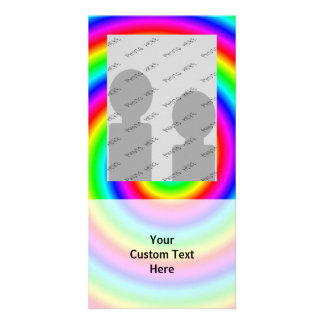 Rainbow Colors. Bright and Colorful Spiral. Photo Greeting Card