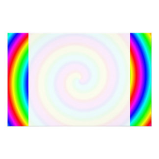 Rainbow Colors. Bright and Colorful Spiral. Stationery Design
