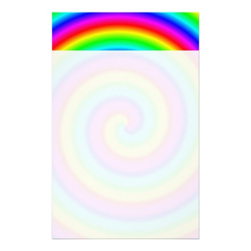 Rainbow Colors. Bright and Colorful Spiral. Stationery
