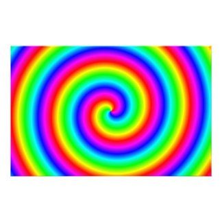 Rainbow Colors. Bright and Colorful Spiral. Stationery Paper