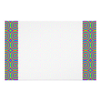 Rainbow Colors. Bright and Colorful Spirals. Custom Stationery