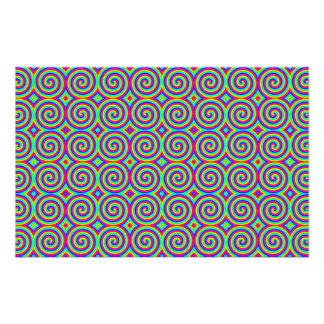 Rainbow Colors. Bright and Colorful Spirals. Stationery Design