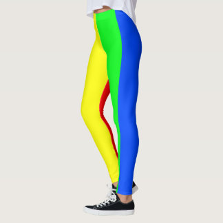 Rainbow colors, bright happy stunning stripes leggings