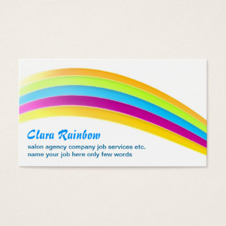 rainbow colors business card