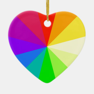 Rainbow Colors Ceramic Heart Decoration