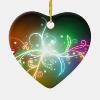 Rainbow colors ceramic heart decoration